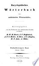 Encyclop  disches W  rterbuch der medicinischen Wissenschaften
