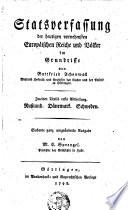 Statsverfassung der heutigen vornehmsten Europäischen Reiche und Völken im Grundrisse