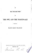 An Old English Poem of The Owl and the Nightingale Book PDF