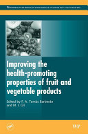download ebook improving the health-promoting properties of fruit and vegetable products pdf epub