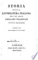 Storia della letteratura italiana  Indice generale di tutta l opera