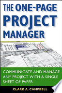 The One Page Project Manager