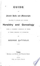 Guide to Printed Books and Manuscripts Relating to English and Foreign Heraldry and Genealogy Book PDF