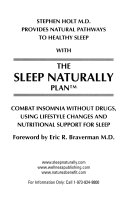 Stephen Holt M D  provides natural pathways to healthy sleep with The sleep naturally plan