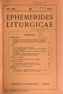 Ephemerides liturgicae