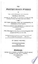 The Posthumous Works Of ... Thomas Boston : ...