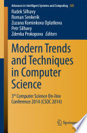 Modern Trends and Techniques in Computer Science