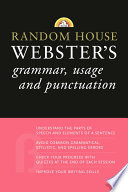 Random House Webster s Grammar  Usage  and Punctuation