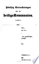 Fünfzig Betrachtungen über die heilige Kommunion