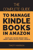Manage Kindle Books in Amazon