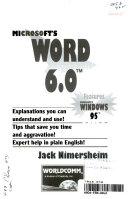 Microsoft s Word 6 0