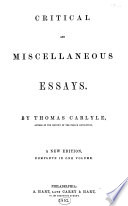 The Modern British Essayists  Carlyle  Thomas  Critical and miscellaneous essays