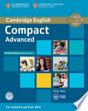 Compact Advanced Student s Book without Answers with CD ROM