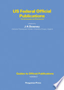 US Federal Official Publications Bibliographic Account Of U S Publications The Title