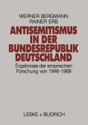 Antisemitismus in der Bundesrepublik Deutschland