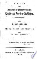 Umriss der hannöverisch-braunschweigischen volks-und fürsten-geschicte, etc