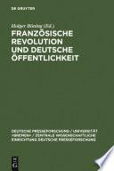 Franz  sische Revolution und deutsche   ffentlichkeit