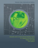 Discrete and Combinatorial Mathematics  Pearson New International Edition