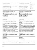 Minutes of Proceedings and Evidence of the Standing Committee on Communications and Culture