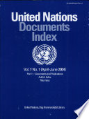 United Nations Documents Index April June 1999 book