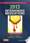 2013 Intravenous Medications