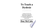 To Teach A Dyslexic