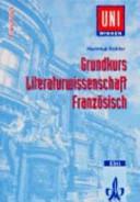 Grundkurs Literaturwissenschaft Franz  sisch