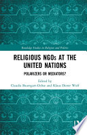 Religious Ngos At The United Nations