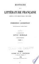 Histoire de la littérature française depuis le XVIe siècle jusqu'à nos jours