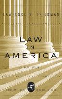 Law in America