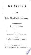 Novellen zur Baierischen Gerichts-Ordnung