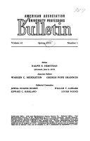 AAUP Bulletin
