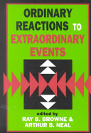 Ordinary Reactions to Extraordinary Events Book PDF