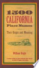 1500 California Place Names