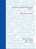Foundations of Applied Mathematics, Volume I