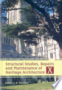 Structural Studies  Repairs and Maintenance of Heritage Architecture X