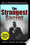 The Strangest Secret  How to Think Business Success