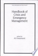Handbook of Crisis and Emergency Management Emergency Responses To Environmental Dangers Such As Chemical