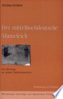Der mittelhochdeutsche Minneleich