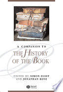 A Companion to the History of the Book Book PDF