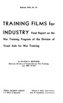 Training Films for Industry