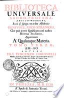 Biblioteca Universale Sacro Profana  Antico Moderna