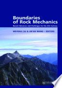 Boundaries of Rock Mechanics