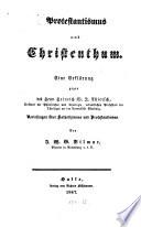 Protestantismus und Christenthum