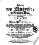 Gesprach vom Muntzweisen, in Romischen Reich, ejusdemque correctura & cura, zwischen einem Juristen und Müntz-Guardein ... Autor Georg Friedrich Jaster ..