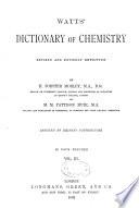 Watts  Dictionary of Chemistry