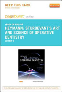 Sturdevant's Art and Science of Operative Dentistry - Pageburst E-Book on Kno (Retail Access Card)