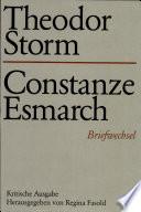 Theodor Storm – Constanze Esmarch