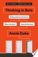 Thinking in Bets Book PDF