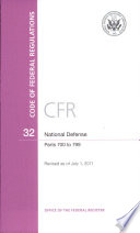 Code of Federal Regulations  Title 32  National Defense  PT  700 799  Revised as of July 1  2011